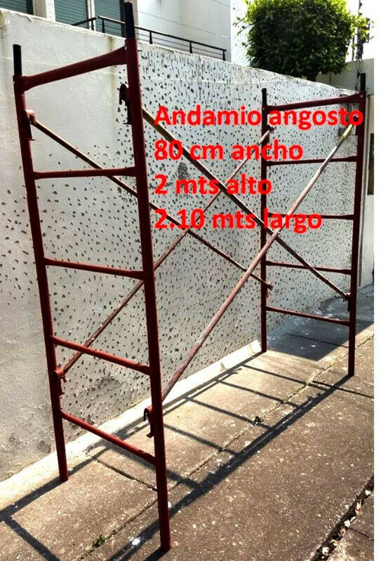 andamio banquetero 2.00x0.80 mts