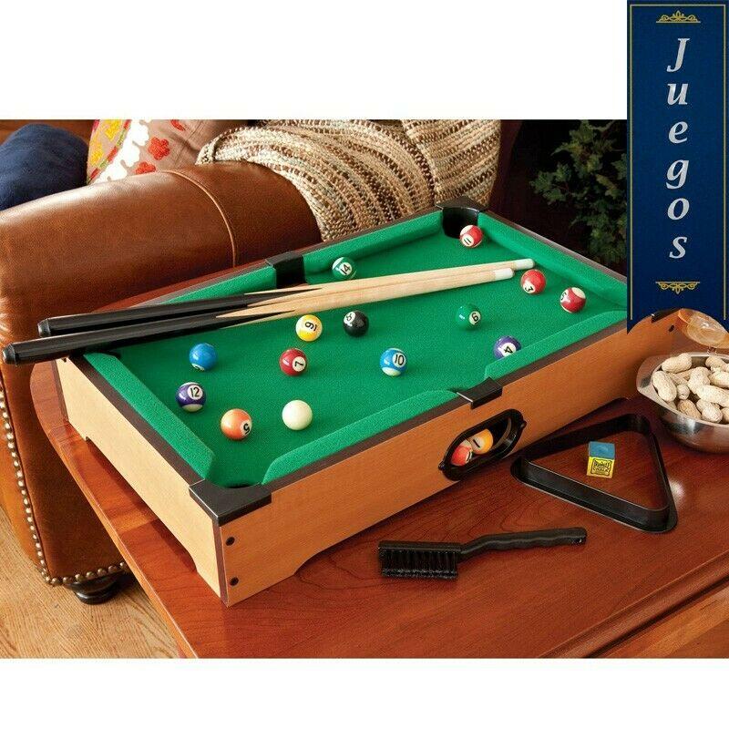 mini mesa de billar 50x30x10cm con todos los accesorios