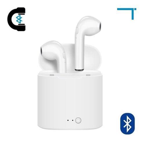 4 Audífonos Bluetooth Tipo AirPods Con Estuche I7s