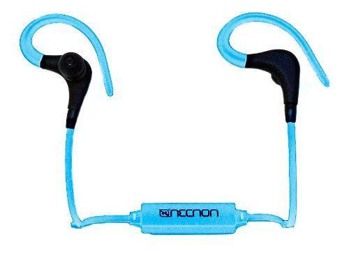 Audifonos Bluetooth Sport Necnon Nbe-02 Azul Full