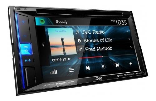Autoestereo Con Pantalla Jvc Kw-v25bt Bluetooth Doble Din
