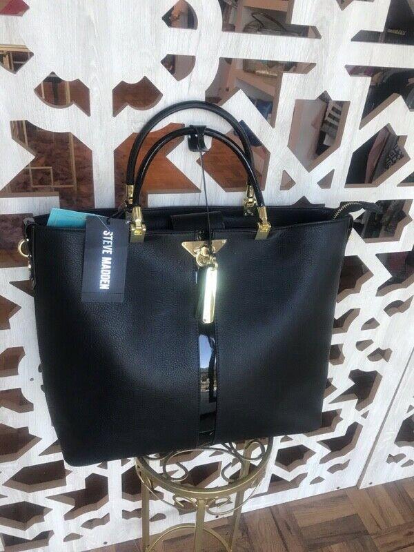Bolsa Steve Madden original, nueva, color negro.