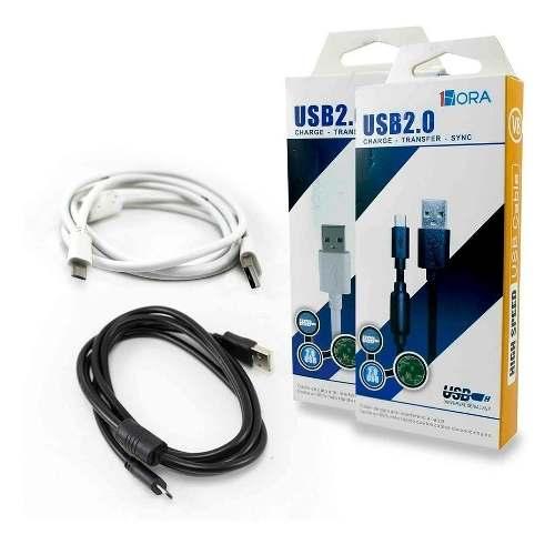 Cable 1hora Micro Usb 2.0 V8 Carga Rapida Uso Rudo