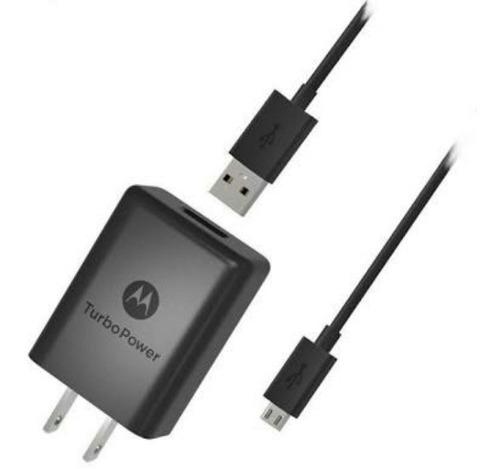 Cargador Motorola Carga Rápida Entrada Micro Usb V8