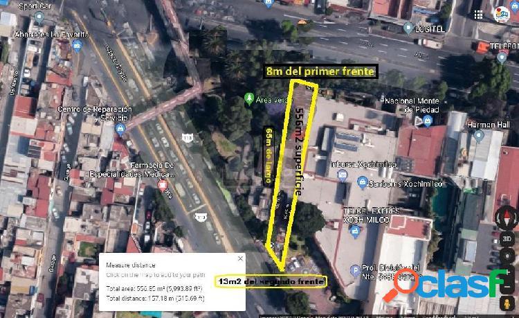 terreno en renta en xochimilco centro, terreno comercial en