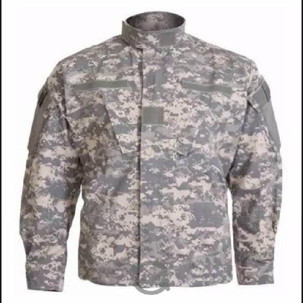 Chamarra pixeleada army camuflajeada Camo