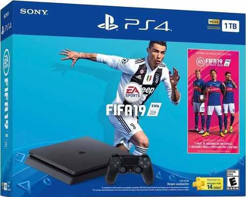 Consola Ps4 Slim 1 Tb + Juego Gratis Fifa 2019 Bundle