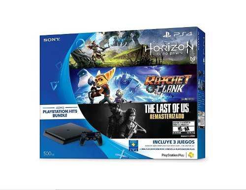 Consola Ps4 Slim 500 Gb Con Juegos Horizon/last Of Us/last O