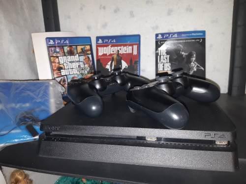Consola Ps4 Slim De 500g Mas 6 Juegos