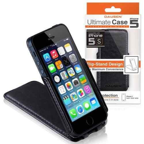 Dausen Black Ultimate Funda Con Tapa Y Soporte Para iPhone 5