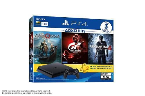 Nuevo Playstation 4 Slim Ps4 1tb Bundle Hits 3 Juegos A Msi