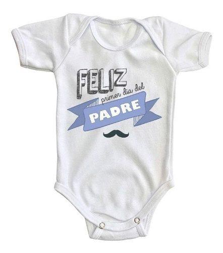 Pañalero Bebé Feliz Día Padre Regalo Ropa Baby Niño