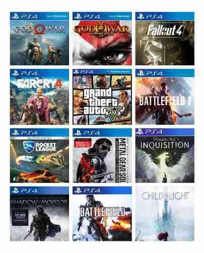 Play Station 4 Con 12 Juegos Digitales