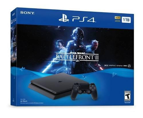 Playstation 4 Ps4 Slim 1tb Con Star Wars Battlefront 2 A Msi
