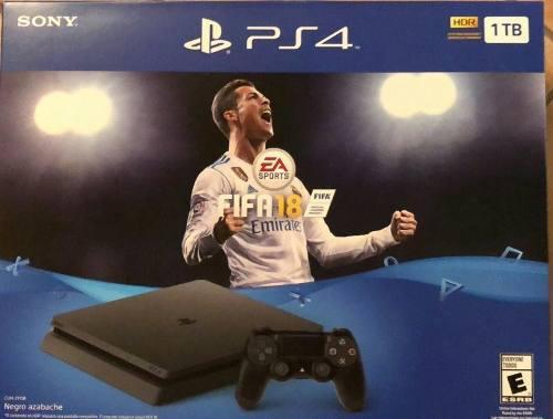 Playstation 4 Slim Ps4 1 Tb Fifa 18 Nuevo Envío Gratis