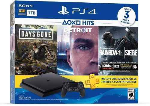 Playstation 4 Slim Ps4 1tb Bundle Hits 3 Juegos Fisicos