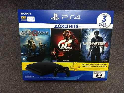Playstation 4 Slim Ps4 1tb Bundle Hits 3 Juegos + Ps Plus