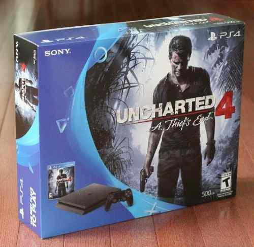 Ps4 Slim 500 Gb, Con Caja Manual Cables Y Juego Sorpresa