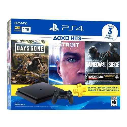 Sony Ps4 Hits Bundle 5 Playstation 4 Slim 1tb 3 Juegos 12msi