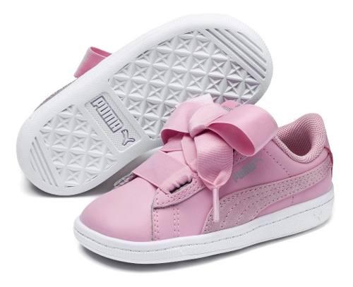 Tenis Para Bebé Niña Puma Vikky Ribbon L Satin Rosa