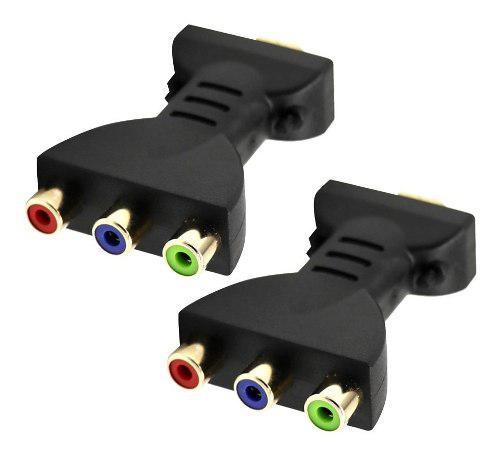 2 Unids Hdmi Macho A 3 Rca Adaptador De Audio Y Video Conec