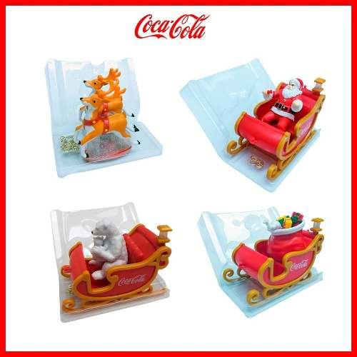 4 Figuras Colección Navidad Trineo Coca Cola