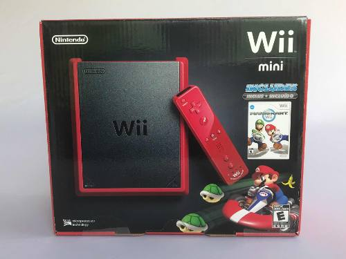 Consola Nintendo Wii Mini Roja Mario Kart Sellado Impecable