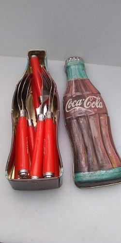 Cubiertos De Coca Cola Con Estuche Vintage