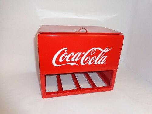Hielera Dispensador Coca Cola Metalica