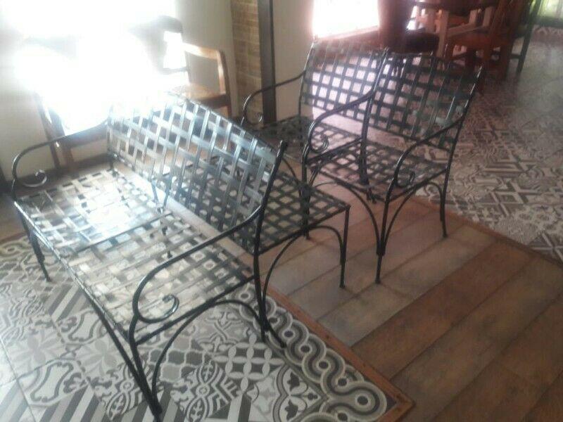 Juego de muebles de herreria para jardin   Posot Class