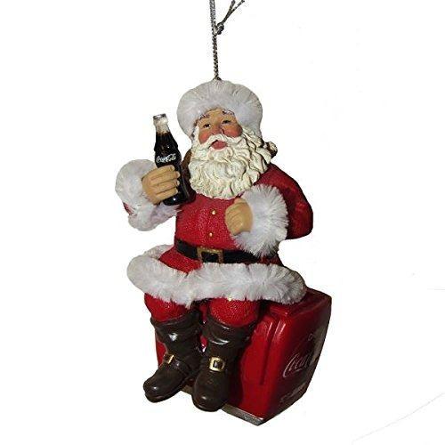 Kurt Adler 4 Coca-cola Santa En Ornamento Del Enfriador