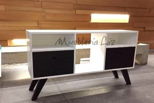 Mueble Rack Para Tv Centro De Entretenimiento Blanco Ngo