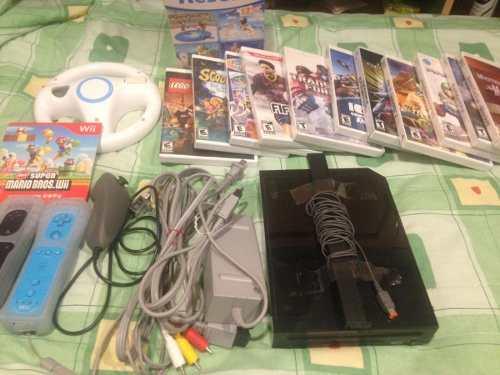 Nintendo Wii + 3 Controles + 10 Juegos + Accesorios