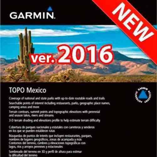 Nuevo Mapa Garmin Topo México 2016 Nüvi Y Otros,envío