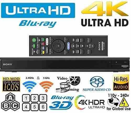 Region Libre Free Reproductor Blu-ray Ultra Hd Ubp X800 4k
