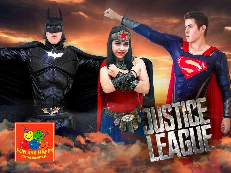 SUPERMAN MUJER MARAVILLA Y BATMAN EN TU FIESTA
