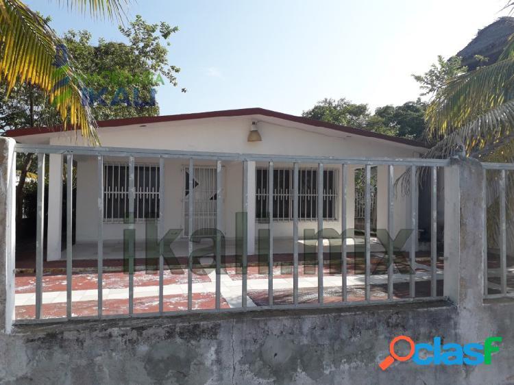 Venta Casa 2 Habitaciones frente al río Tecolutla Veracruz,