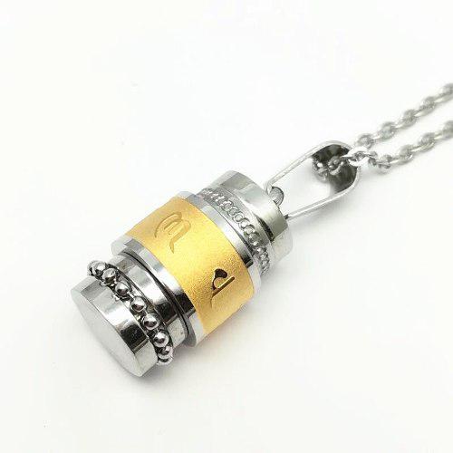 1 Collar Relicario Urna Cenizas Ser Querido Acero Inoxidable