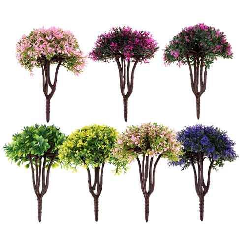 1/40 Escala O Calibre Modelo Arena Mesa Colorido Flor Árbo