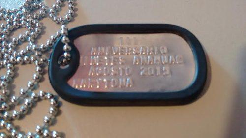 1placa De Id. Y Cadena Acero Inoxidable/dog-tag