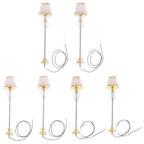 2 Piezas Lámpara De Pie Modelo En Miniatura Diy Architectu