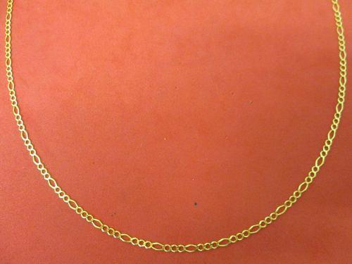 Cadena Fígaro Oro De 10 Kilates 2.5 Mm. Y 60 Cm.