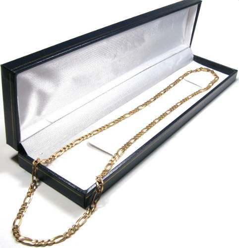 Cadena Figaro Modelo 3x1 De Oro Macizo 14k 60cm 18gr Y 4.5mm