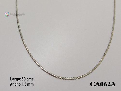 Cadena Planchada 50cms 1.5mm Acero Inoxidable Plateado