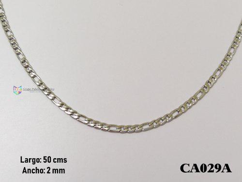 Cadena Tejido 3x1 50cms 2mm Acero Inoxidable Plateado