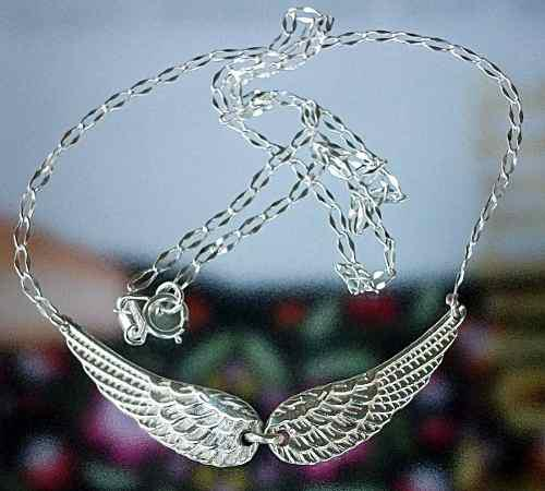 Collar Alas De Angel En Plata Ley.925