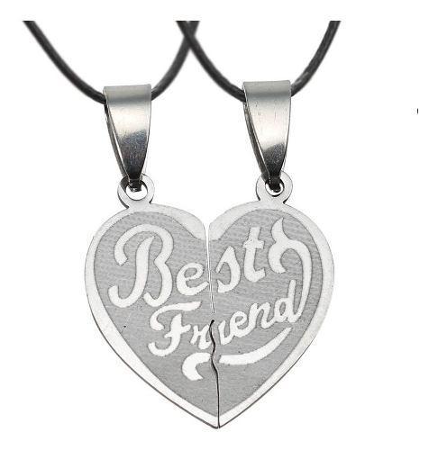 Collar Corazón Partido Best Friend Mejor Amigo Con Envío