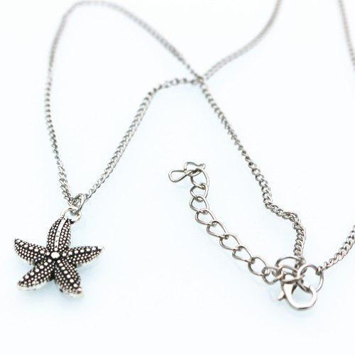 Collar Estrella De Mar Plateada Precio De Mayoreo