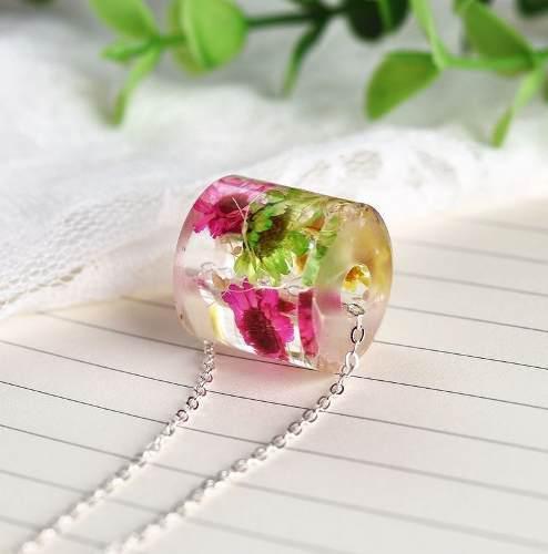 Collar Flores Naturaleza Encapsulada + Caja De Regalo Gratis