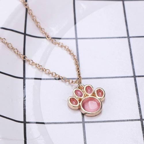 Collar Huella De Perro Color Rosa A Precio De Mayoreo Mujer